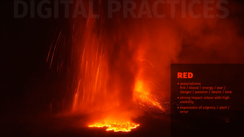 DIGITAL PRACTICES ‣ associations: