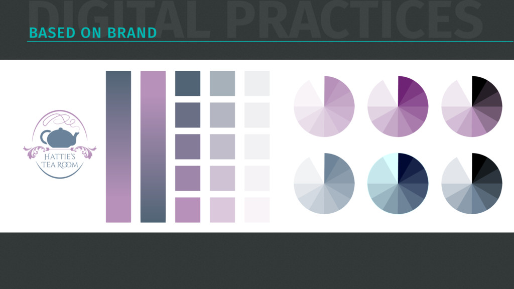 DIGITAL PRACTICES BASED ON BRAND slate Blue #6A...