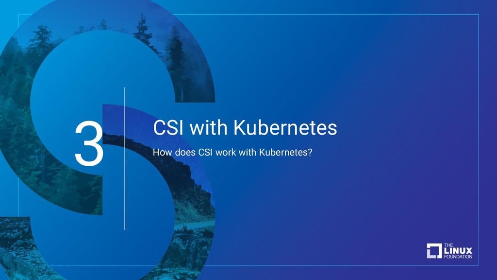 CSI with Kubernetes How does CSI work with Kube...