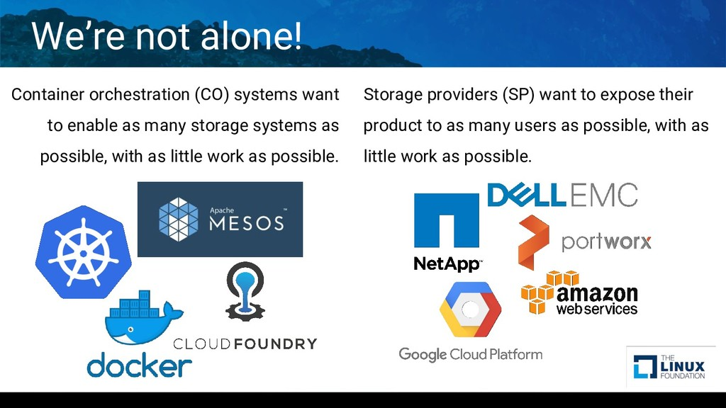 We're not alone! Container orchestration (CO) s...