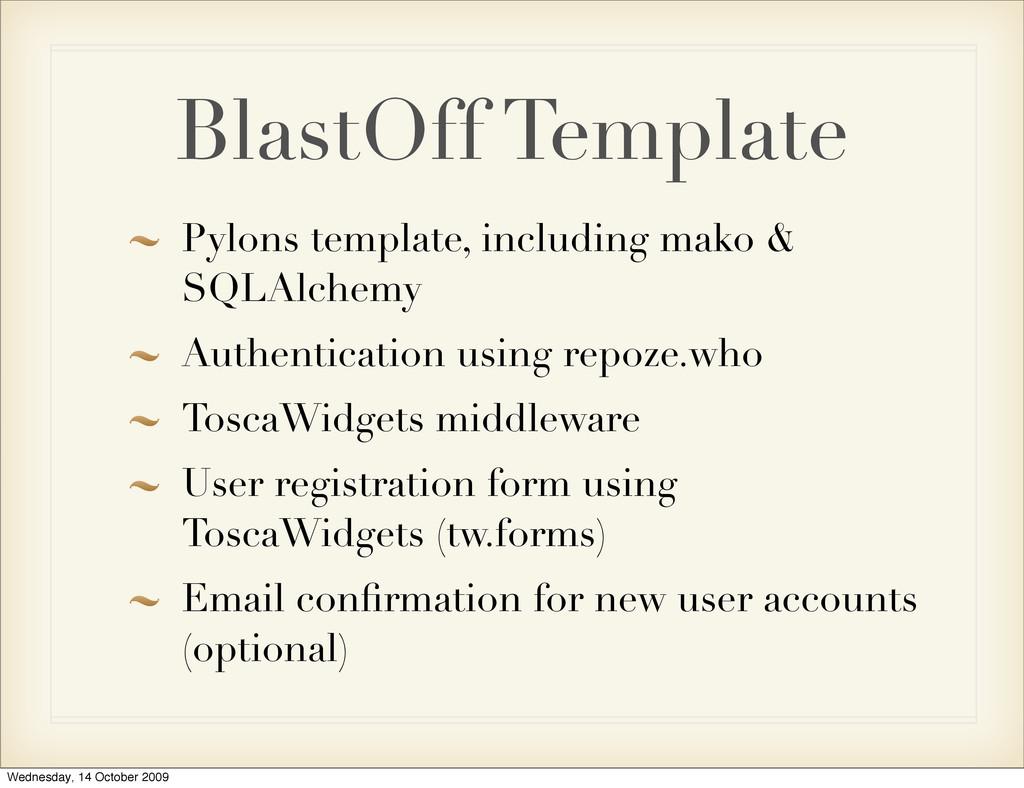 BlastOff Template Pylons template, including ma...