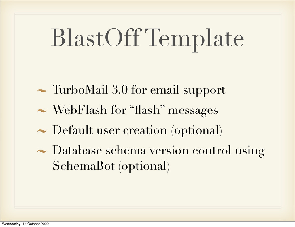 BlastOff Template TurboMail 3.0 for email suppo...