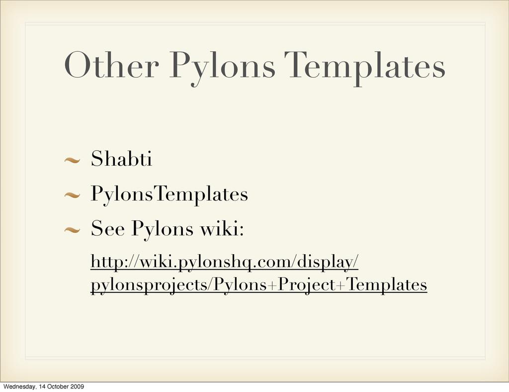 Other Pylons Templates Shabti PylonsTemplates S...