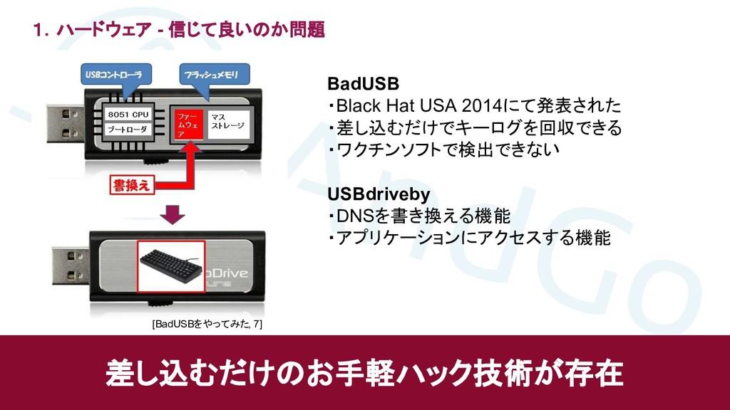 1.ハードウェア - 信じて良いのか問題 差し込むだけのお手軽ハック技術が存在 BadUSB ...
