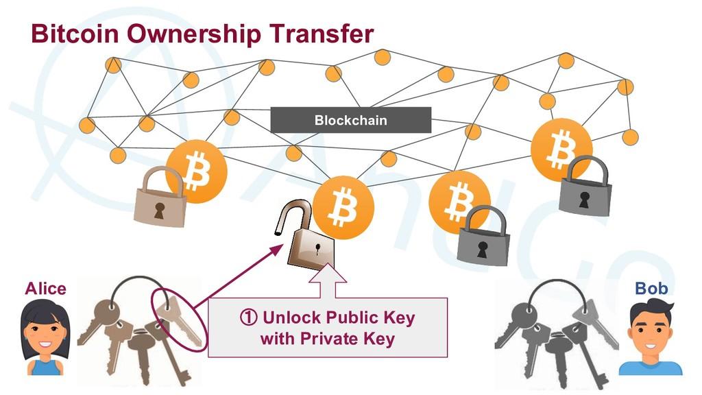 Alice Bitcoin Ownership Transfer Bob Blockchain...
