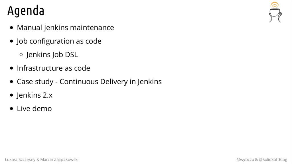 Agenda Manual Jenkins maintenance Job configura...