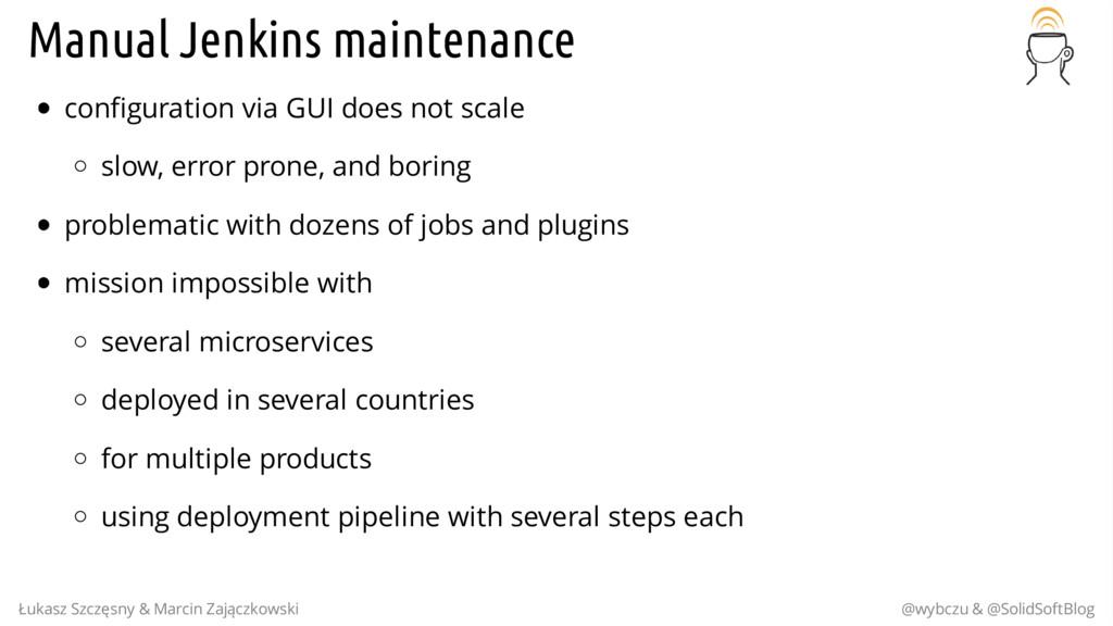 Manual Jenkins maintenance configuration via GU...