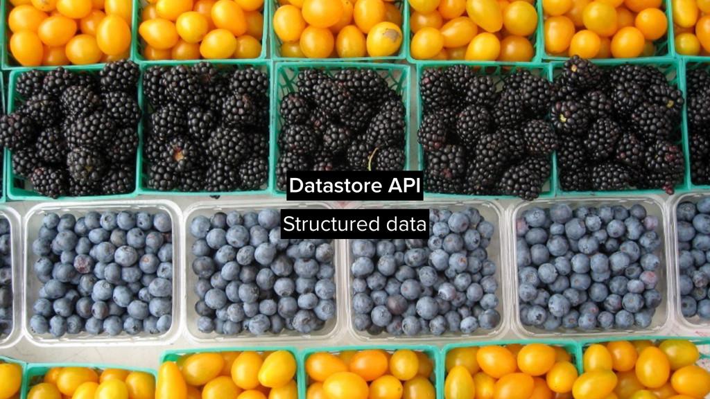 Datastore API Structured data