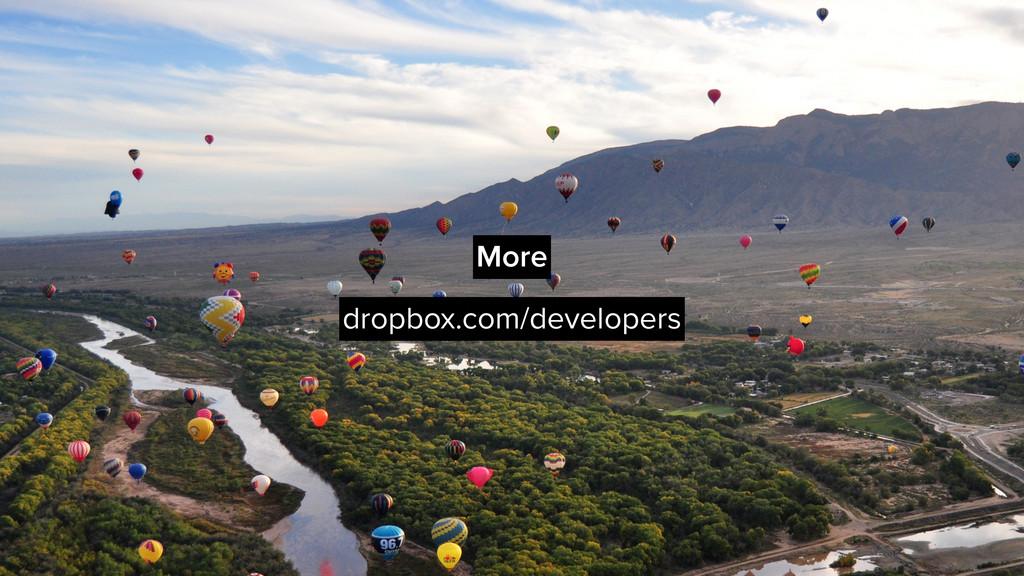More dropbox.com/developers