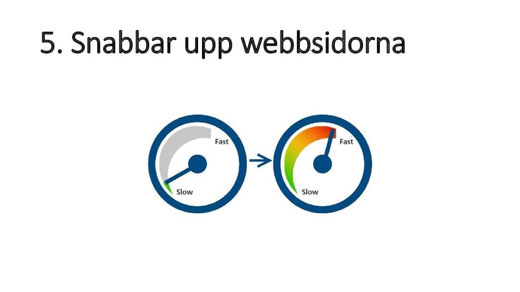 5. Snabbar upp webbsidorna