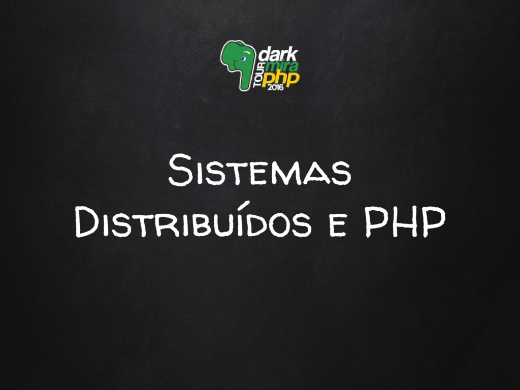 Sistemas Distribuídos e PHP