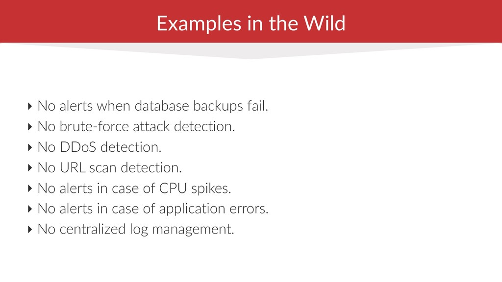 Examples in the Wild ‣ No alerts when database ...