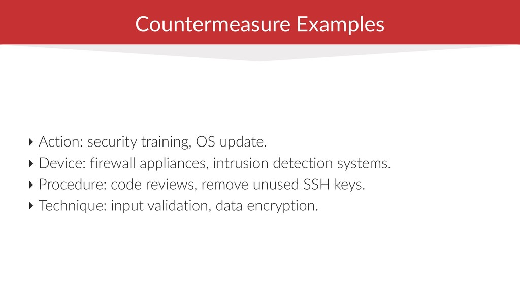 Countermeasure Examples ‣ Action: security trai...