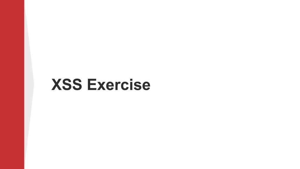 XSS Exercise