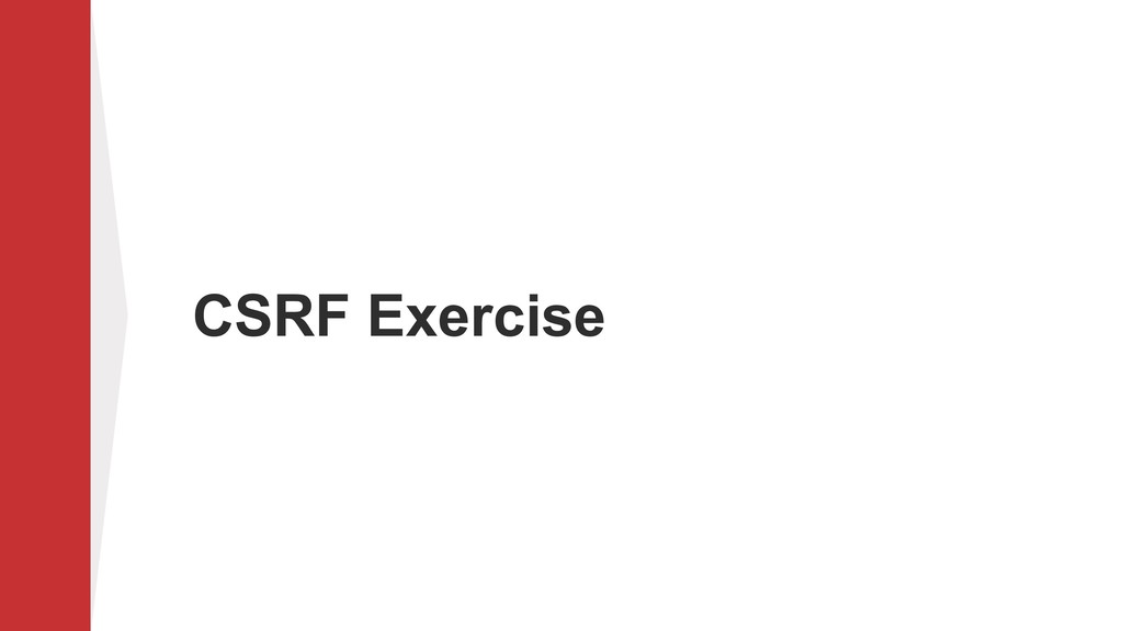 CSRF Exercise