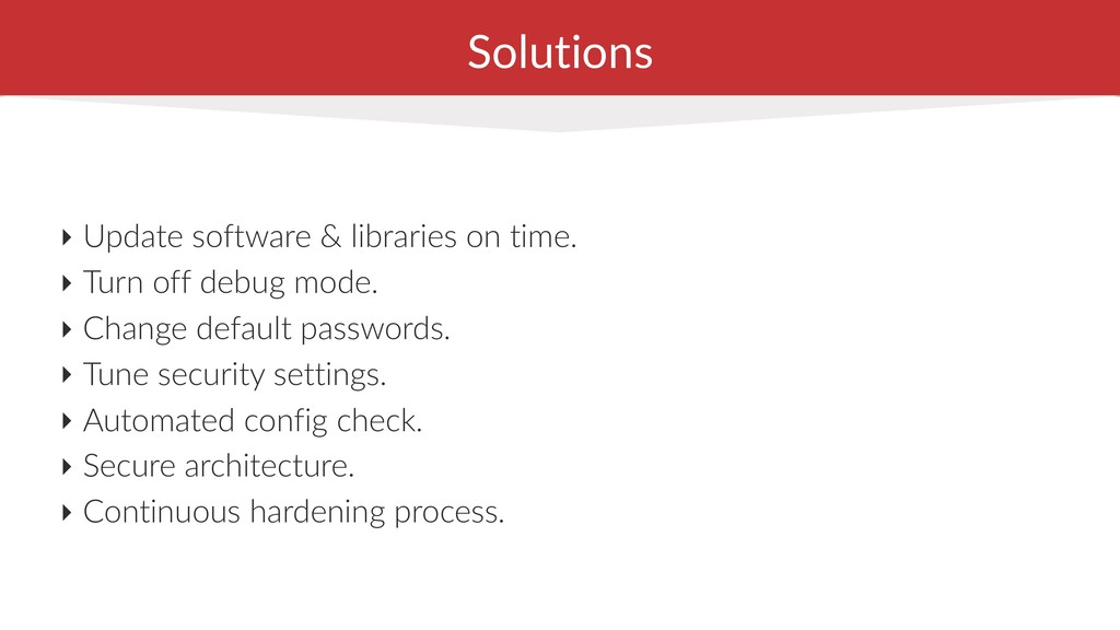 Solutions ‣ Update software & libraries on time...