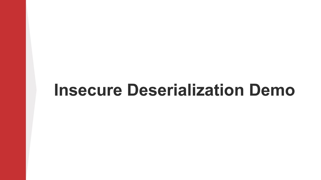 Insecure Deserialization Demo