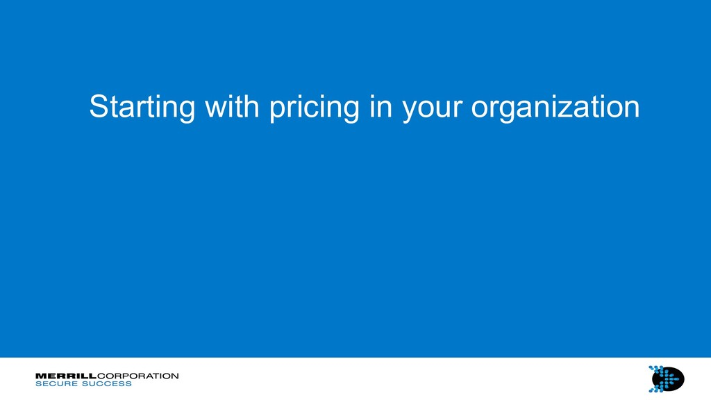 Starting with pricing in your organization