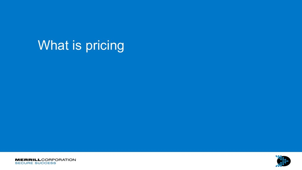What is pricing