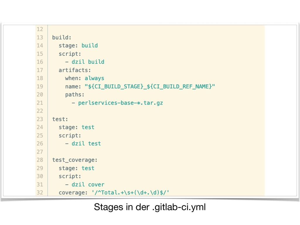 Stages in der .gitlab-ci.yml
