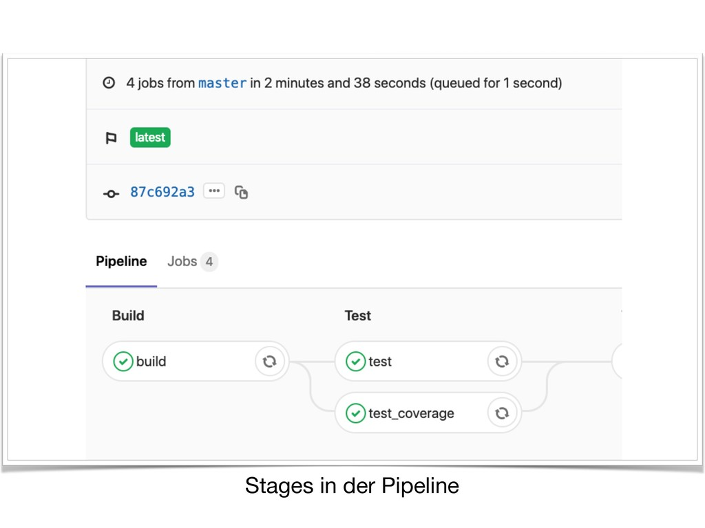 Stages in der Pipeline