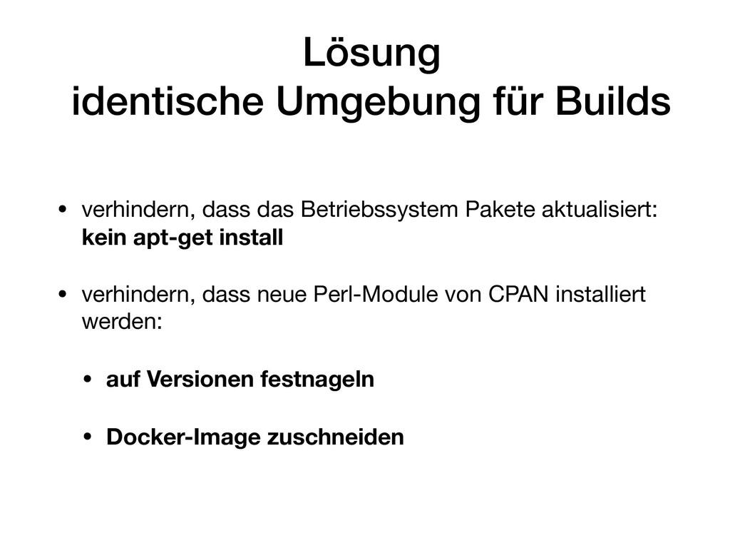 Lösung identische Umgebung für Builds • verhin...