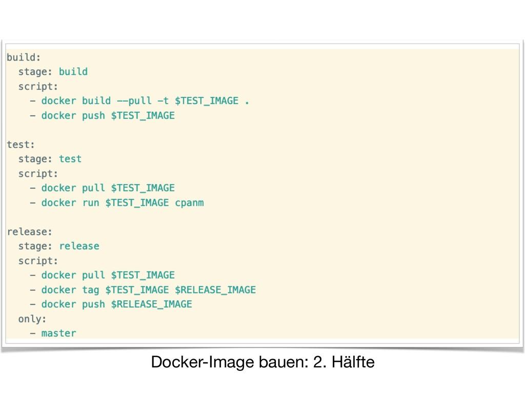 Docker-Image bauen: 2. Hälfte