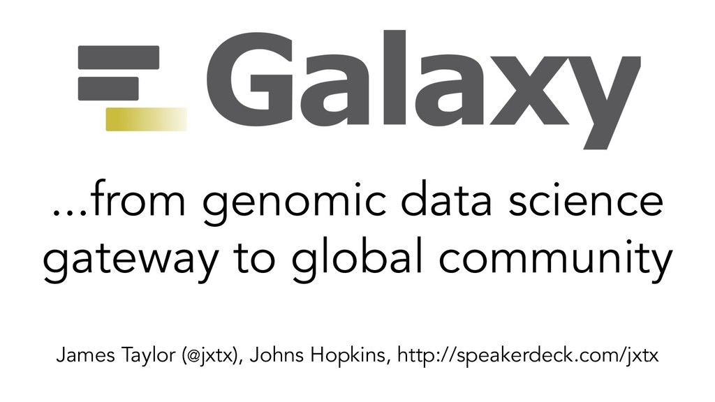 ...from genomic data science gateway to global ...