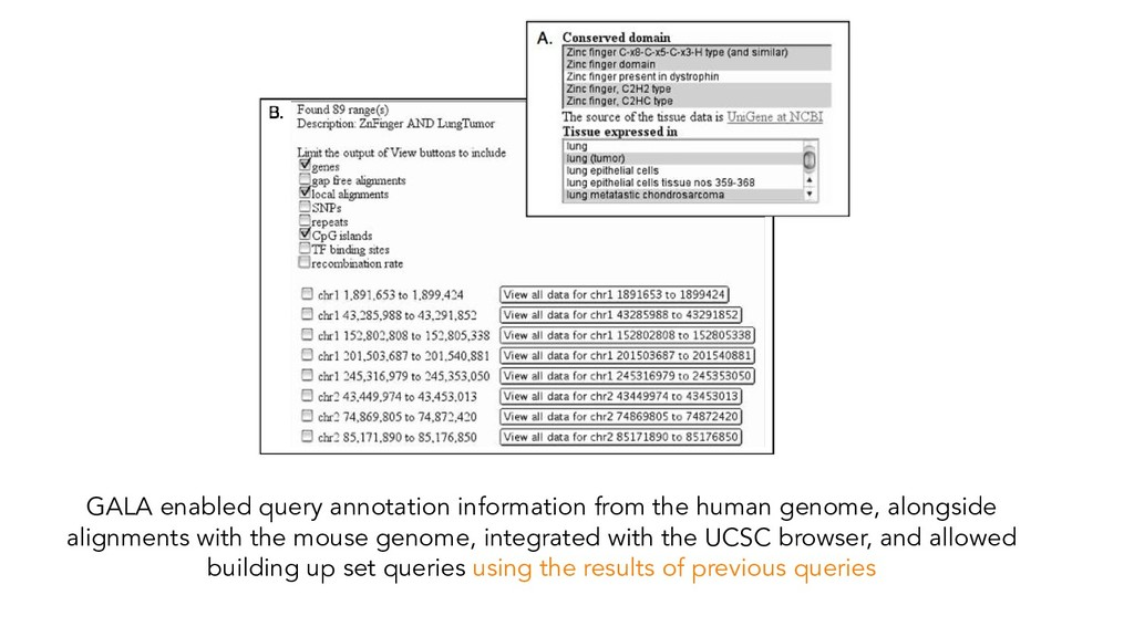 GALA enabled query annotation information from ...