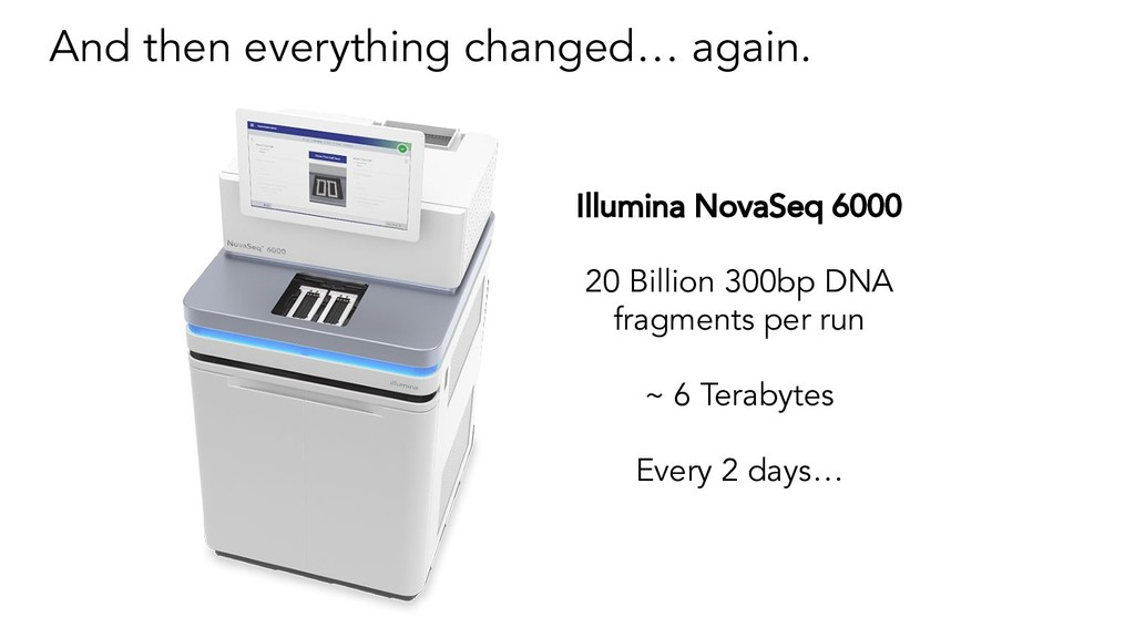 And then everything changed… again. Illumina No...
