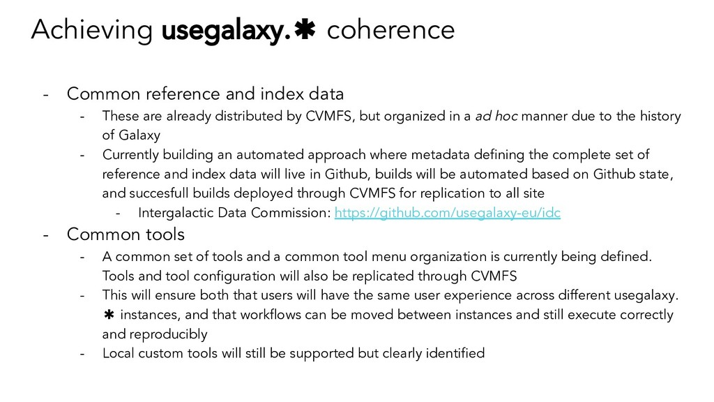 Achieving usegalaxy.✱ coherence - Common refere...
