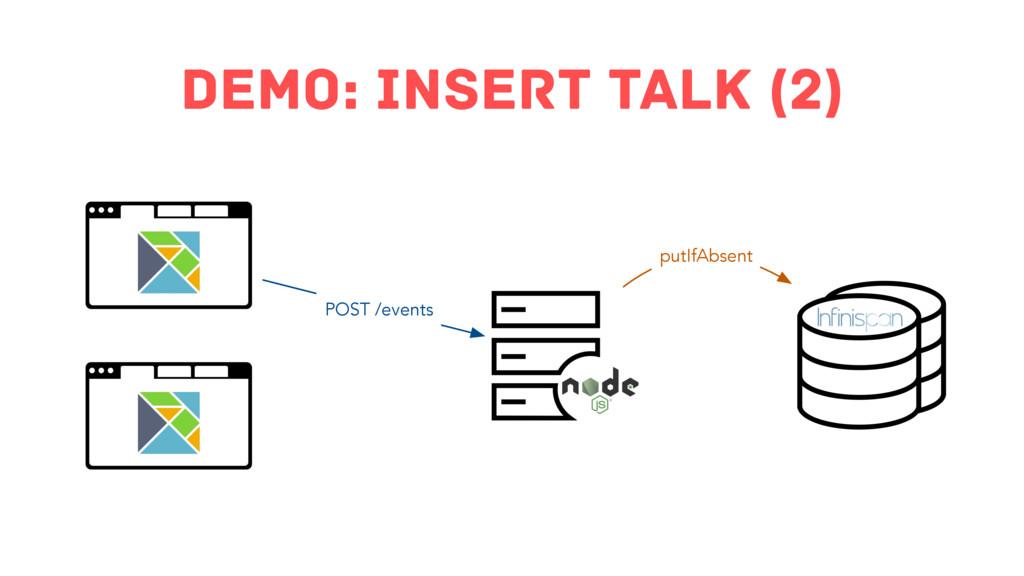 demo: insert Talk (2) POST /events putIfAbsent