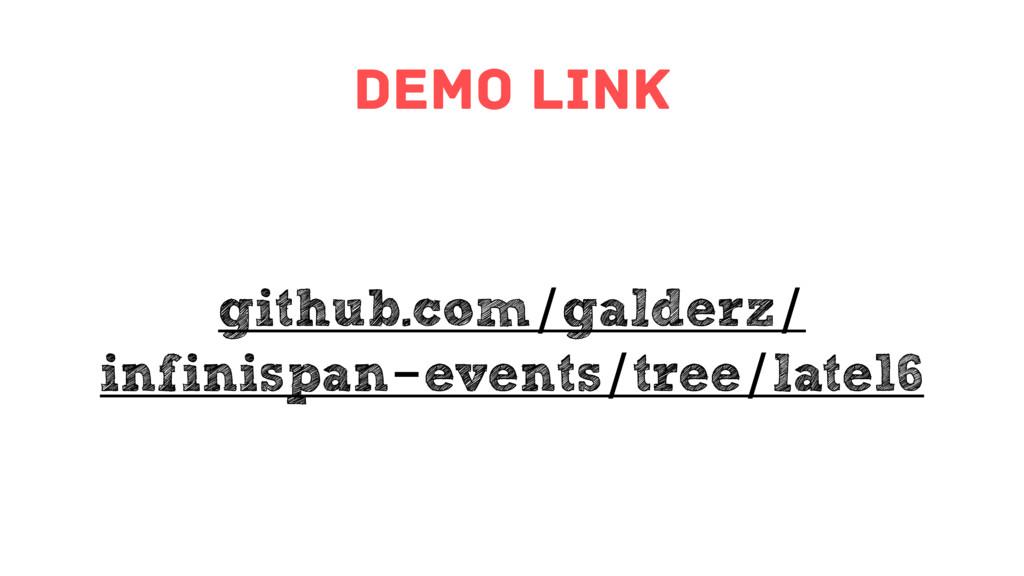 demo link github.com/galderz/ infinispan-events...