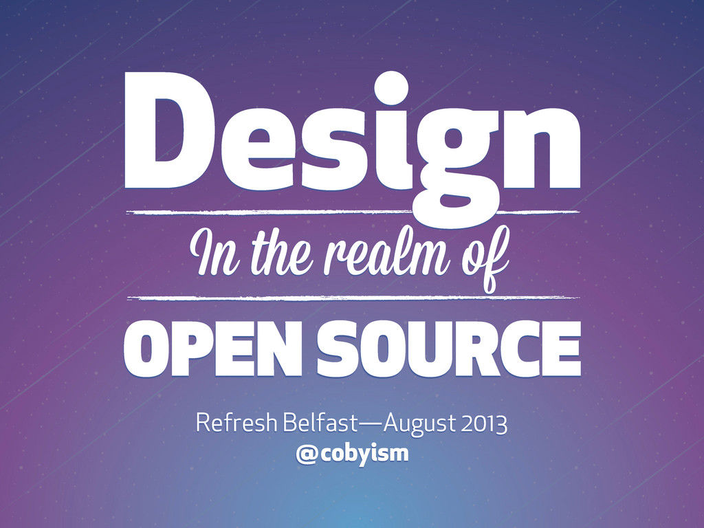 Design OPEN SOURCE In the realm of Refresh Belf...
