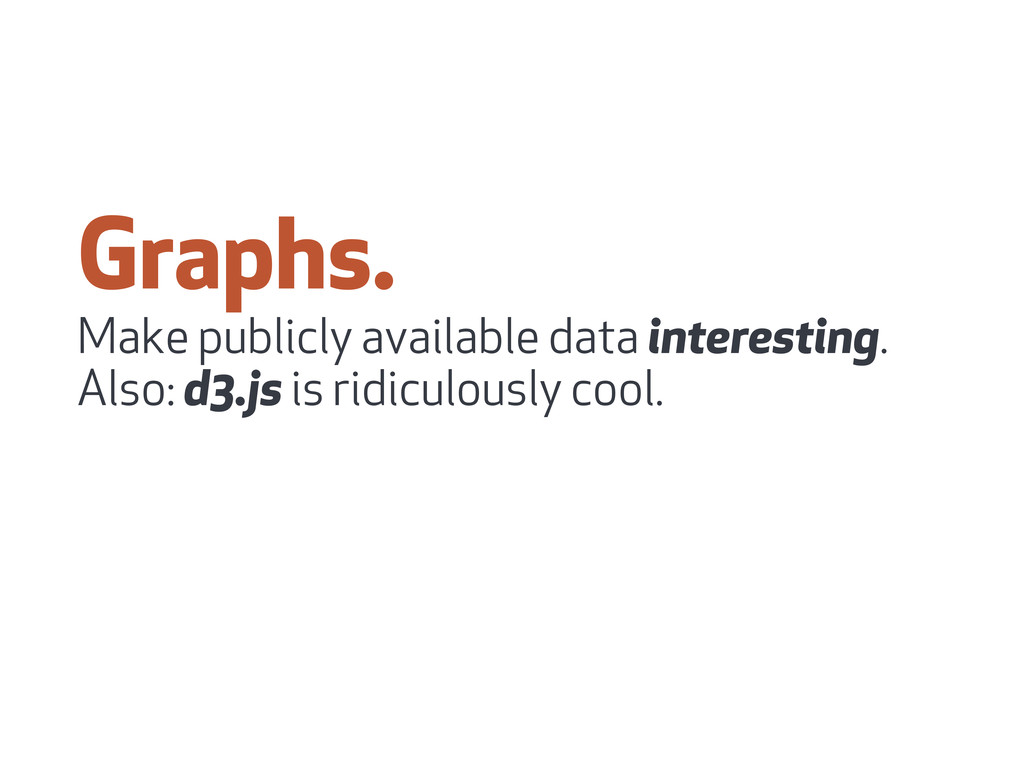 Graphs. Make publicly available data interestin...