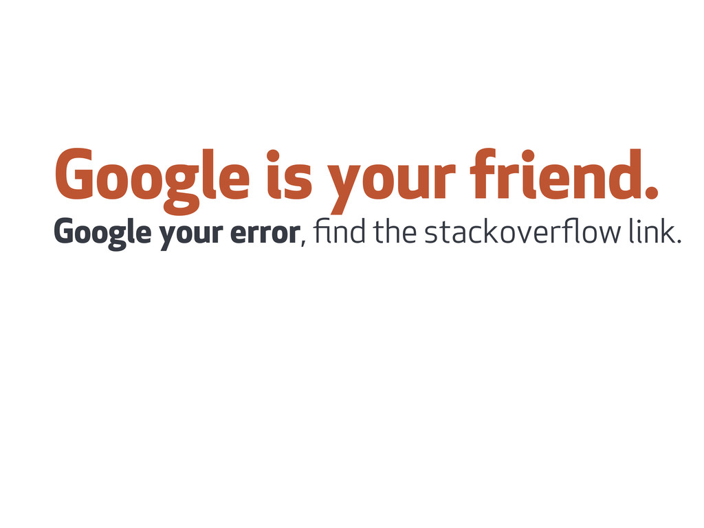 Google is your friend. Google your error, find t...