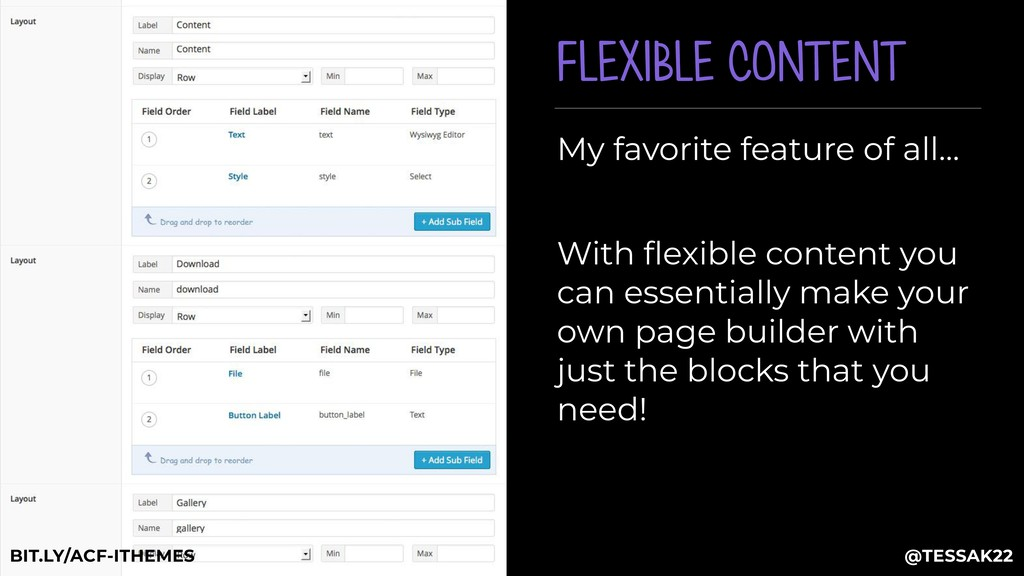 FLEXIBLE CONTENT My favorite feature of all… Wi...