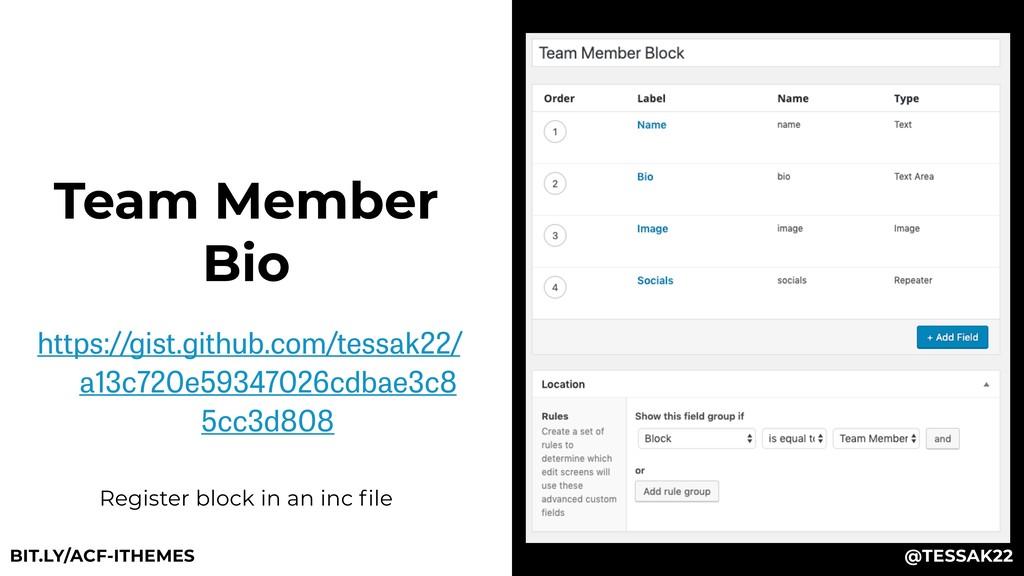 Team Member Bio https://gist.github.com/tessak2...
