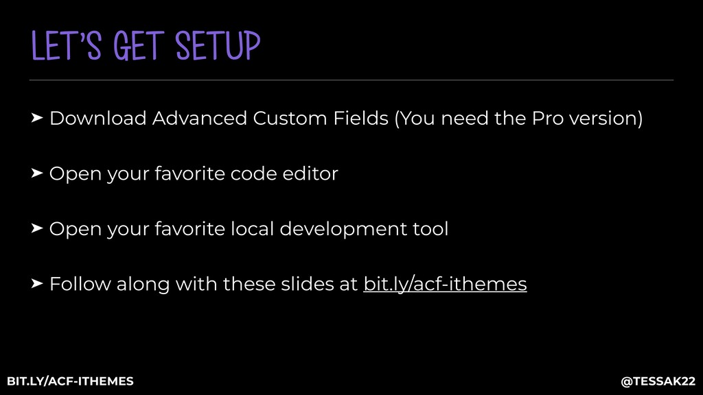 LET'S GET SETUP ➤ Download Advanced Custom Fiel...