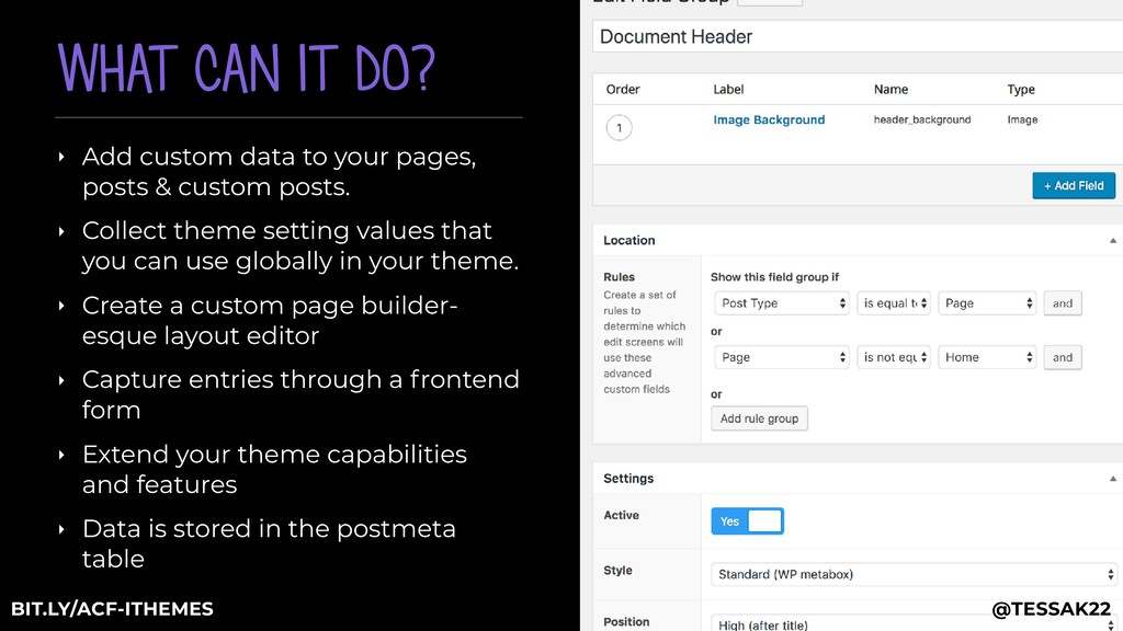 WHAT CAN IT DO? ‣ Add custom data to your pages...