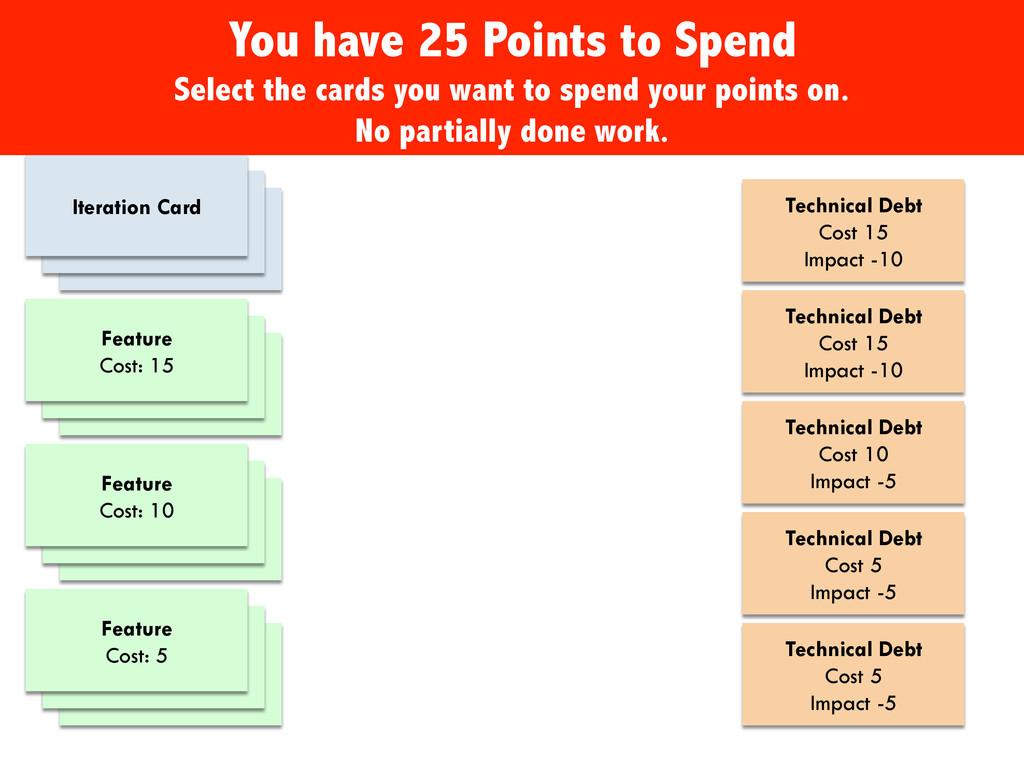Feature Cost: 10 Feature Cost: 15 Feature Cost:...