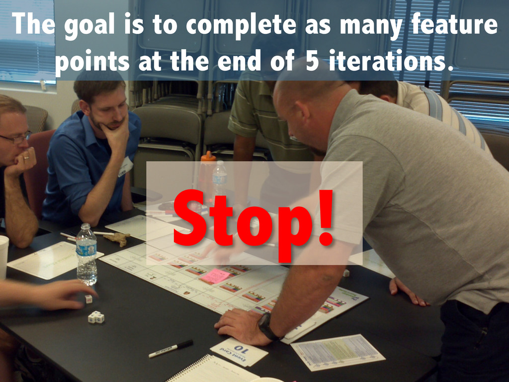 The goal is to complete as many feature points ...