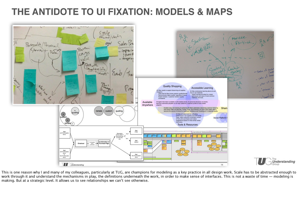 THE ANTIDOTE TO UI FIXATION: MODELS & MAPS This...