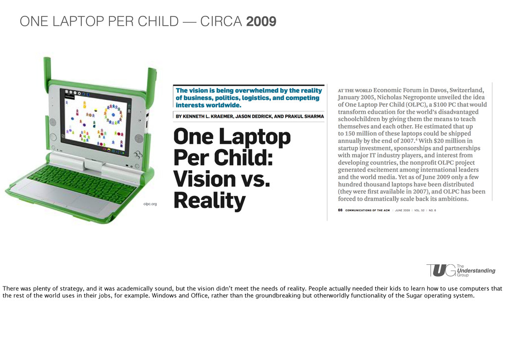 olpc.org ONE LAPTOP PER CHILD — CIRCA 2009 Ther...