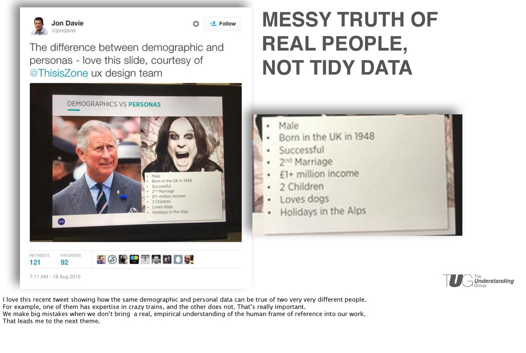MESSY TRUTH OF REAL PEOPLE, NOT TIDY DATA I lov...