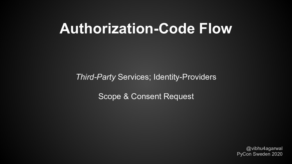 Third-Party Services; Identity-Providers Scope ...