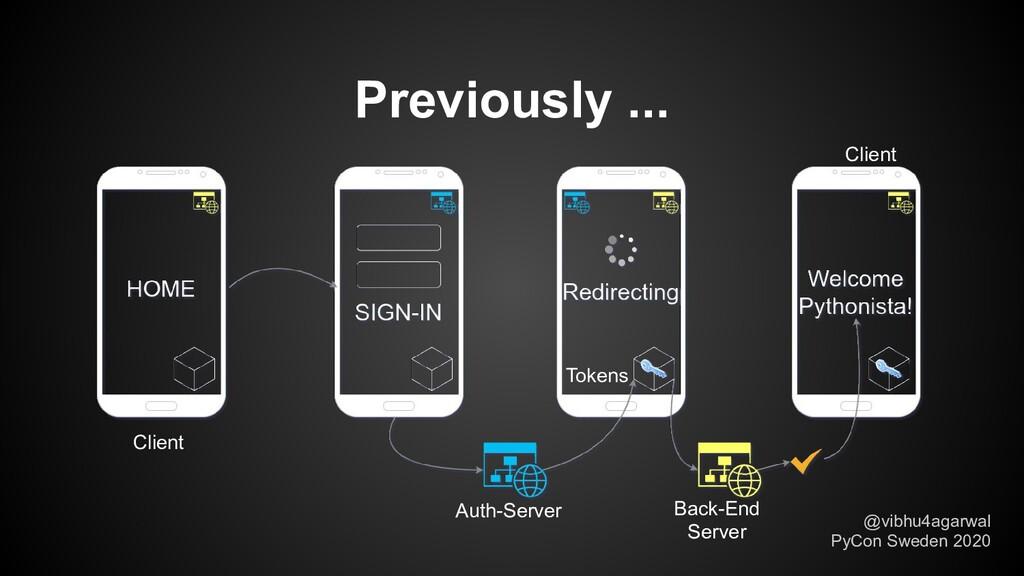 Previously ... Auth-Server Back-End Server Clie...