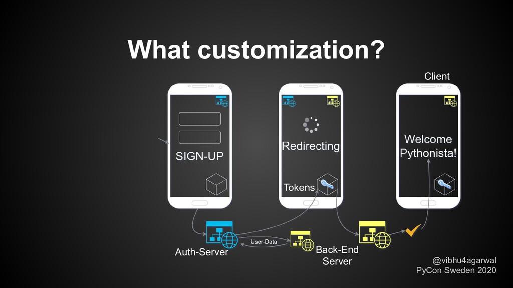What customization? @vibhu4agarwal PyCon Sweden...