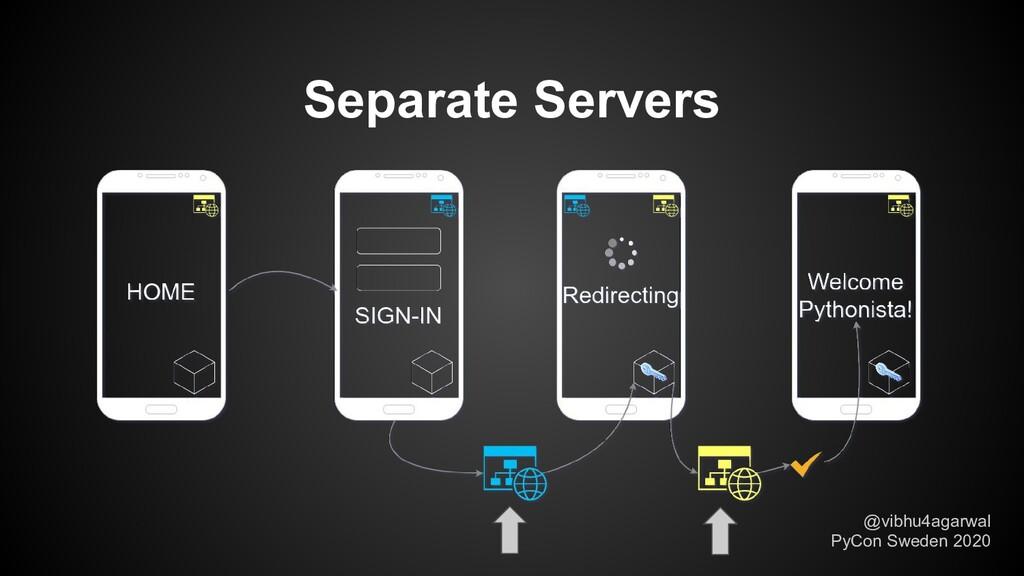 Separate Servers @vibhu4agarwal PyCon Sweden 20...
