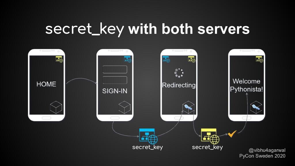 secret_key with both servers secret_key secret_...